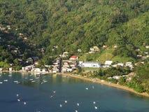Charlotteville och Prates skäller, Tobago Arkivbild