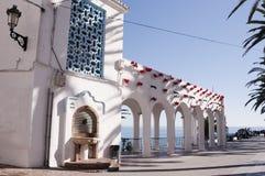 Balconen de Europa i Nerja Spanien fotografering för bildbyråer