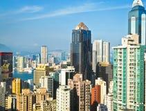 Beskåda av Hong Kong vid dag Arkivbilder