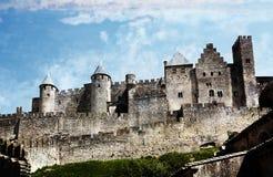 Carcassonne Languedoc Roussillon, Frankrike Arkivfoton