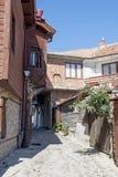 Beskåda av staden gammala Nessebar, Bulgarien Royaltyfri Foto