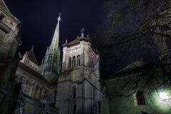 Sts Pierre domkyrka, Geneve, Schweitz Royaltyfria Bilder
