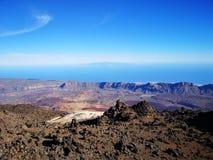 Beskåda av Teide royaltyfri foto