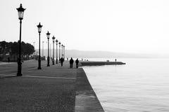 Beskåda av Thessalonikis port, Grekland Royaltyfri Bild