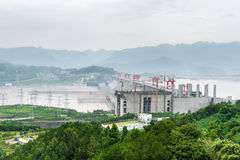 Beskåda av Threet Gorge Dam Arkivbild