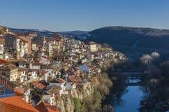 Beskåda av Veliko Tarnovo i Bulgarien Royaltyfri Bild