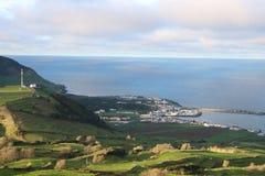 Beskåda byn av Praia, Graciosa, Azores Royaltyfria Bilder