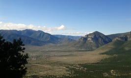 Beskåda från berg arkivbild