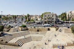 Beskåda från Damascusen utfärda utegångsförbud för till kvadrera och Jerusalem Royaltyfria Foton