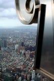 Beskåda från den Taipei 101 skyskrapan i Taipei, Taiwan Fotografering för Bildbyråer