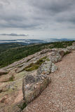 Beskåda från det Cadillac berget i Acadia NP, Maine Fotografering för Bildbyråer