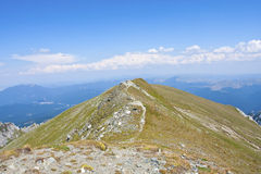 Beskåda från det Omu berg Arkivfoton