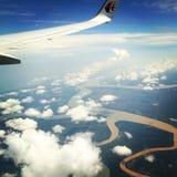 Beskåda från flygplan Arkivfoto