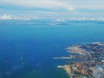 Beskåda från flygplan Royaltyfri Fotografi