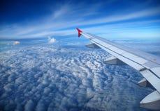 Beskåda från flygplanfönstret Royaltyfri Fotografi