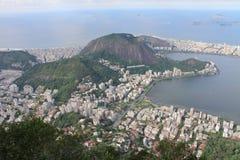 Beskåda från Kristus Förlossarestatyn, Rio De Janeiro, Brasilien Arkivfoto