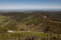 Beskåda från Mt Coolidge utkik fotografering för bildbyråer