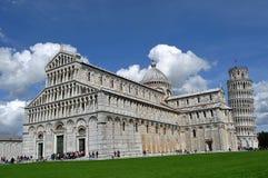 Pisa Piazza Dei Miracoli Arkivfoton