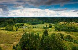 Beskåda från tornet, Litauen 4 royaltyfria bilder
