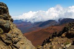 In i vulkan Royaltyfria Bilder