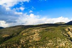 Beskåda landskapet av bergsområdet av övreGalilee Fotografering för Bildbyråer