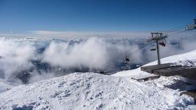 Beskåda ovanför molnen Fotografering för Bildbyråer