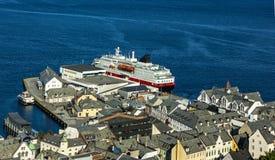 Norsk town Alesund Royaltyfria Bilder