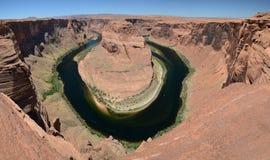 Panorama- beskåda av hästskokrökning Arkivfoto