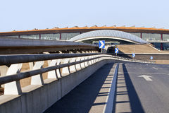 Beskåda på terminal 3, Peking huvudinternationella Aiport Arkivfoton