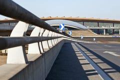 Beskåda på terminal 3, Peking huvudinternationella Aiport Arkivfoto