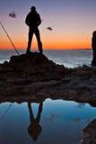 Beskåda solnedgången royaltyfri fotografi