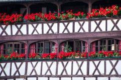 Beskåda staden av Stasbourg, La liten och nätt Frankrike arkivbild