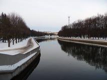 Den Svisloch floden Fotografering för Bildbyråer