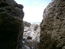 Beskåda till havet Royaltyfri Foto