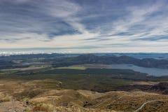 Beskåda till sjöar Taupo och Rotoaira Arkivbilder