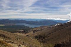 Beskåda till sjöar Taupo och Rotoaira Arkivbild