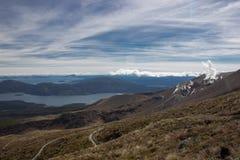 Beskåda till sjöar Taupo och Rotoaira Arkivfoton