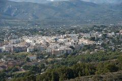 Beskådar av den Javea townen Royaltyfria Foton