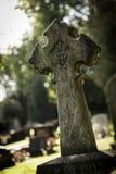 Arg markör i kyrkogård Fotografering för Bildbyråer