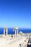 Beskåda av Hellenistic stoa Arkivfoto