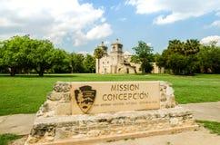 Beskickning concepcion i San Antonio texas royaltyfri bild