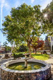 Beskickning San Luis Obispo de Tolosa Courtyard Fountain Kalifornien Royaltyfria Foton