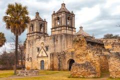 Beskickningbefruktningingång - exempel av spansk kolonial arkitektur - UNESCOplats arkivbild