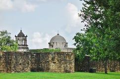 Beskickningen San Jose y San Miguel de Aguayo i San Antonio, Texas arkivfoton