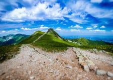 Beskid em Tatras ocidental polonês no verão Foto de Stock