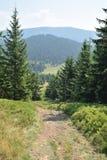Beskid Polish Mountains. Mountain climbing in Polish mountains Stock Photo