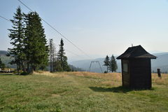 Beskid Polish Mountains. Mountain climbing in Polish mountains Royalty Free Stock Photography