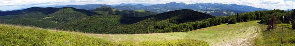 Beskids and Mala Fatra mountains panorama Stock Photos