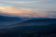 Beskids-Sonnenuntergang Lizenzfreie Stockbilder