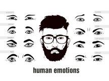Beskrivning av mänskliga sinnesrörelseögon Royaltyfri Foto